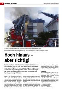 118 - Swissfire.ch - Novemberausgabe 2014 Artikel: Hoch hinaus – aber richtig!