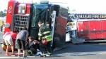 Tiller-Ladder in schweren Verkehrsunfall verwickelt