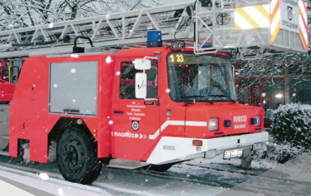 Training für die kalte Jahreszeit – Hubrettungsfahrzeuge im Wintereinsatz