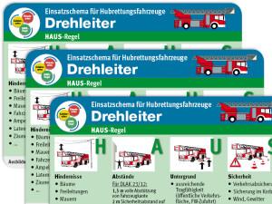 Einsatz-Taschenkarte für Hubrettungsfahrzeuge - Drehleiter (Rückseite)