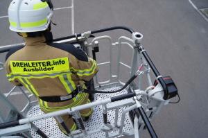 Sicherung mit Feuerwehrhaltegurt