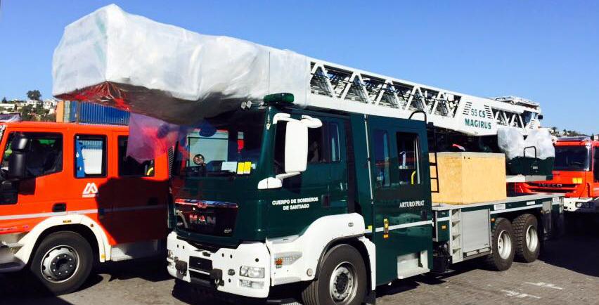 DREHLEITER.info bildet Feuerwehr in Santiago de Chile aus